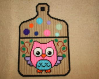Owl cutting board note holder