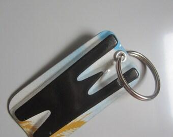W License Tag Keychain