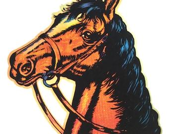 Horse Head Vintage 1975 Holoubek Studios Iron On Heat Transfer