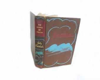 Grapes of Wrath, 1939 First Edition, John Steinbeck, Antique Book, Literary Fiction, Literary Classic Novel,  Steinbeck Book