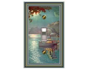 0486x - Night Boat - mrs butler switch plate covers - choose sizes / prices from drop down box