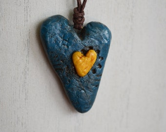 Polymer Clay, Heart Pendant
