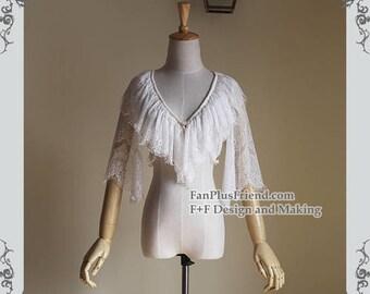 Elegant Gothic Lolita Elaborate Chantilly Lace Short Jacket/Bolero