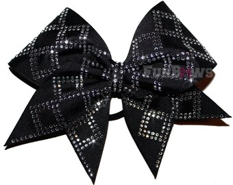 Diamonds ! Beautiful rhinestone cheer bow by FunBows !