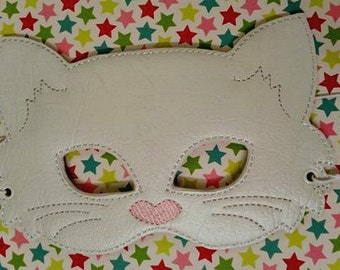 Child's Mask - Kitty Cat - White marine vinyl