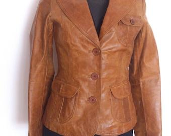 leather jacket, honey brown,