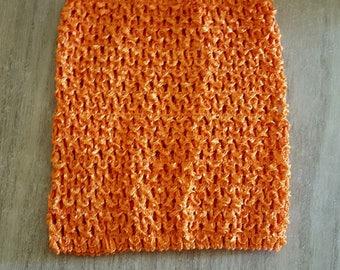 STRAPLESS stretch Orange 0-16 months crochet for creating baby tutu dress