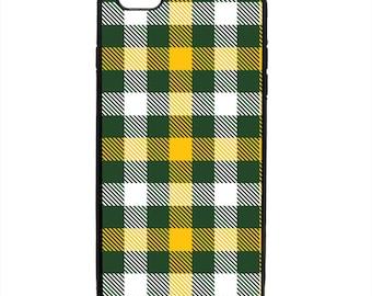 Green Yellow Plaid Print Phone Case Samsung Galaxy S5 S6 S7 S8 S9 Note Edge iPhone 4 4S 5 5S 5C 6 6S 7 7S 8 8S X SE Plus