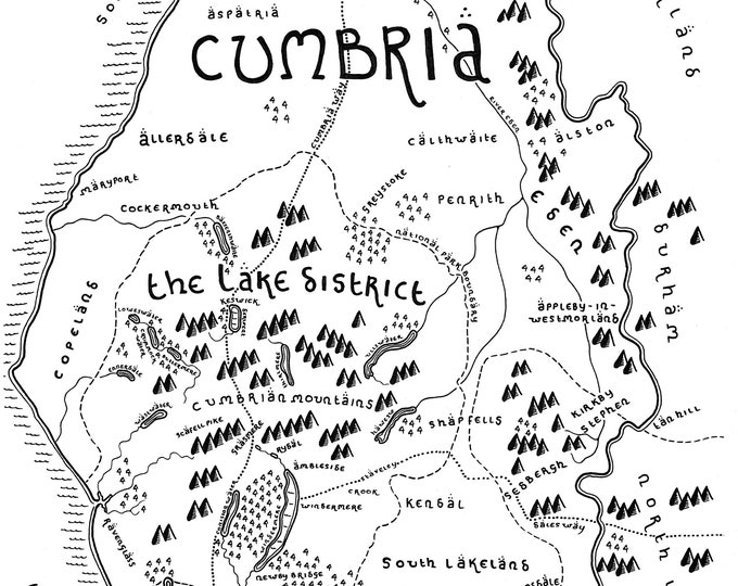 The County of Cumbria - Giclée Print