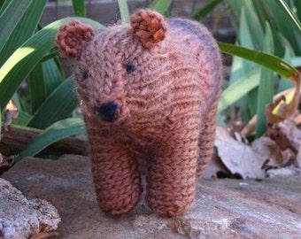 PDF, Bear Knitting Pattern, Waldorf Toy, Instant Digital Download