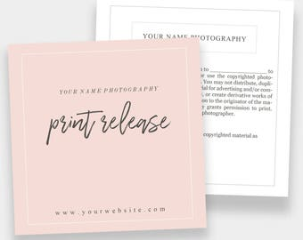 Print Release Form 5x5 | Forms for Photographers
