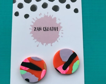 Orange & lime splice studs!!!