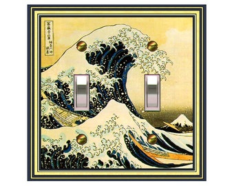 1151x - Asian - The Wave - mrs butler switch plate covers - choose sizes / prices from drop down box