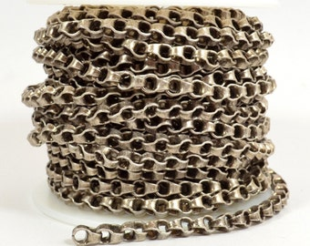 Large Box Link Rolo Chain - Antique Silver - 6mm x 4.5mm Links - CH145 - Choose Your Length