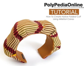 Polymer Clay Tutorial, DIY Bracelet Tutorial, Beads Tutorial, PDF Jewelry Tutorial, Hollow Bead, Cuff Tutorial, Millefiori Bead, DIY Polymer
