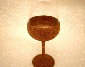 Gold glittered Wine glass