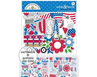 Doodlebug   Yankee Doodle Collection   Odds & Ends Die-Cuts