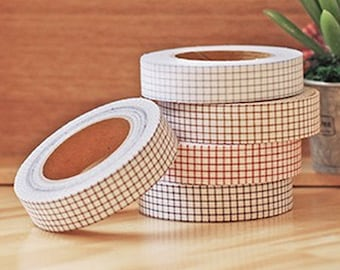 Various Line Check Adhesive Fabric Tape (0.6in)