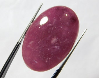 35.55 Cts (30X20X6) mm Oval Shape Beautiful Top Quality Natural rubellite tourmaline Quartz Smooth Plain Cabochon Free Shipping