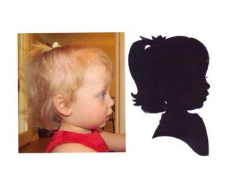 Medium 8x10 inch Custom Silhouette Portrait