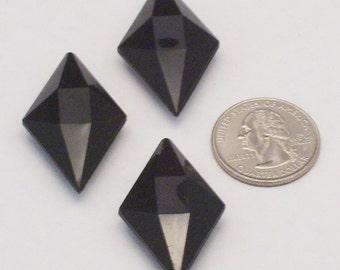 12 pendentifs noir Vintage Lucite
