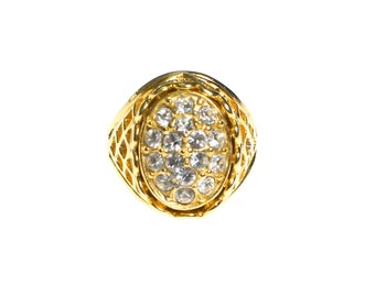 Vintage Oval CZ Statement Ring