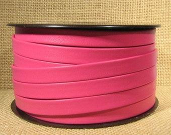25% Off 10mm Regaliz Premier Flat Leather - Magenta - 10M-P5 - Choose Your Length