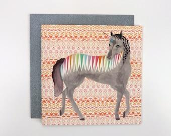 Square Card - Rainbow Unicorn