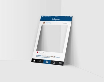 Instagram party frame • Personalised Instagram-Style Party frame