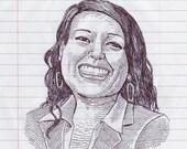 Happy Woman Original Pen ...