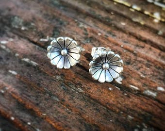 Sterling Cactus Flower Studs