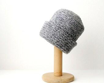 Grey Crochet Beanie Blended Gray Slouchy  Hat  Unisex