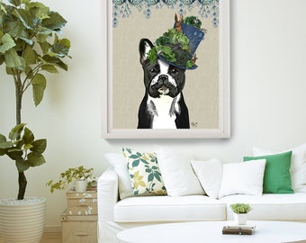 French Bulldog Print - Milliners Dog - French Bulldog art French Bulldog lover French Bulldog gift frenchie art print gift frenchie print