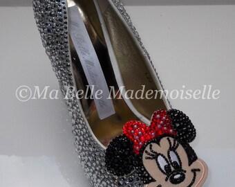 Minnie Mouse Rhinestone Shoes, Minnie Mouse Shoes, Minnie Mouse Heels, Minnie Mouse Pumps, Disney Shoes, Disney Heels, Disney Pumps