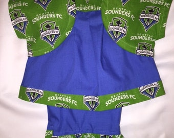 Seattle Sounders FC Baby Girl 3 piece Outfit