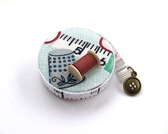 Measuring Tape Sewing Theme Retractable Tape Measure