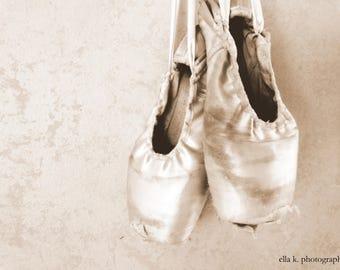 Kelsey . Dance . Shoes . Ballet . Ballerina . Sepia Print