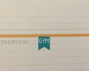 Gym flag planner stickers -  stickers for planners, journals, scrapbooks and more!