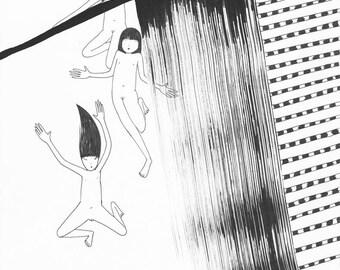 Falling Girls - Print