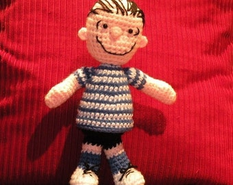 PDF - Linus from Peanuts - amigurumi doll crochet pattern