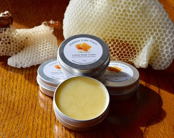 NEW: Luxurious All Natural Ingredients, Beeswax and Rice Bran Oil Body Cream, wonderfully moisturizing soft cream