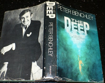 Peter Benchley, The Deep. 1976, First Edition, Author of Jaws. Literature Fiction, Sci Fi Fantasy, Novel, Hardcover Jacket,