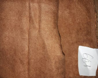 NO. 661-FABRIC POLYESTER COTTON FAUX SUEDE HAZELNUT BROWN