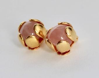 ROSE Quartz Flower Earrings by Carlisle