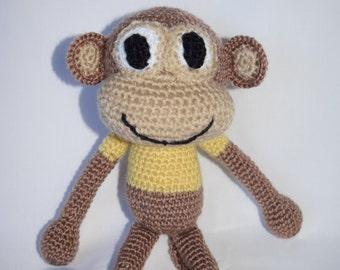 READY TO SHIP Crochet Monkey, Amigurumi Monkey