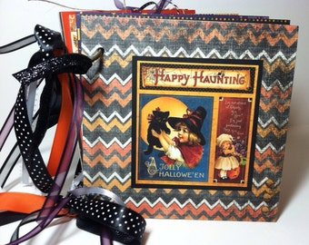 Halloween Scrapbook Album Premade Scrapbook Vintage Style