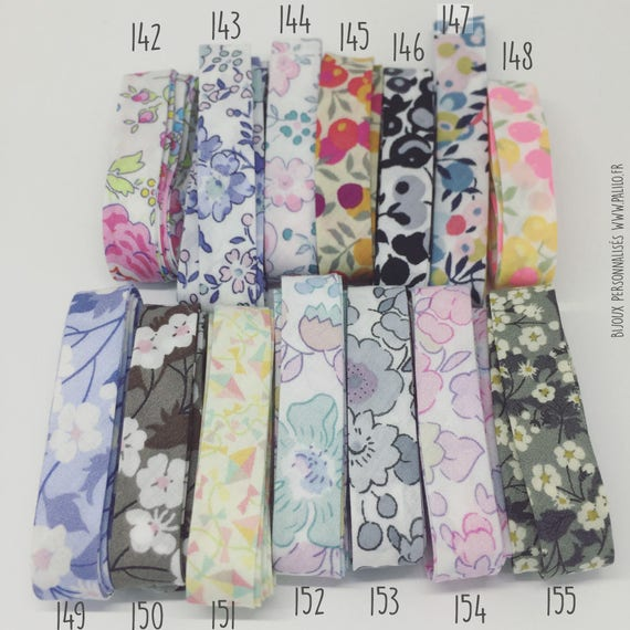 ★ LIBERTY OF LONDON ★ CHOICE RIBBON WIDE MADE OF COTTON FOR YOUR JEWELRY PALILO