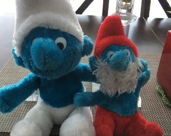 Vintage Smurf Plush Collection Papa Smurf With Tags