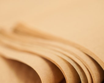 Kraft Brown Tissue Paper 24 Sheets | Recycled Kraft Tissue Paper | Tan Tissue Paper | Light Brown | Recycled Tissue Paper
