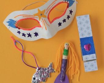 SALE~ Kids Craft Kit - Rainy Day Craft Kit - 4 fun kids craft activities in one kit - school holiday sanity saver!